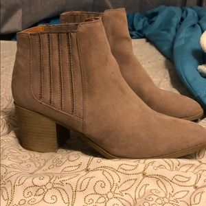 Qupid tan ankle boots